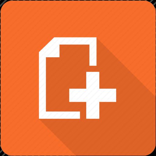 add, additional, document, upload icon