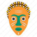 african culture, ceremonial mask, cultural mask, face mask, festive mask, tribal mask icon