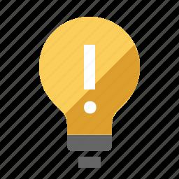 bright, bulb, idea, light, smart icon