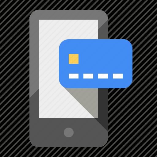 cash, credit, debit, ecommerce, mobile, payments, phone icon