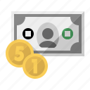 bank, cash, coin, currency, ecommerce, money, payment icon