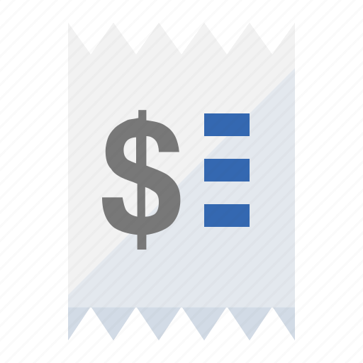 buy, ecommerce, payment, price, receipt, ticket icon