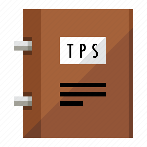 binder, folder, notebook, report, tps report icon