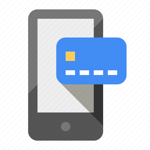 android, cash, credit, debit, ecommerce, payment, phone icon