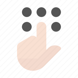 finger, gesture, hand, key pad, touch screen icon