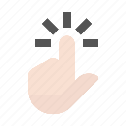 finger, gesture, hand, key pad, point, touch screen icon