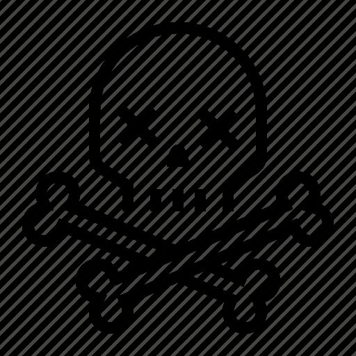 bones, danger, death, poison, rock-n-roll, skull icon