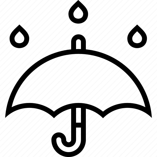 forecast, protection, rain, storm, umbrella, weather icon