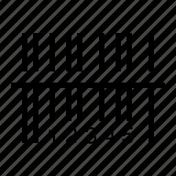 barcode, code, scanner, sku icon