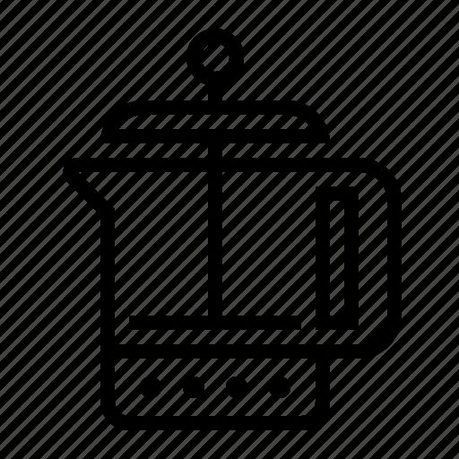 coffee, french press, kettle, kitchen, percolator icon