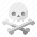 bones, danger, death, pirate, poison, skeleton, skull icon