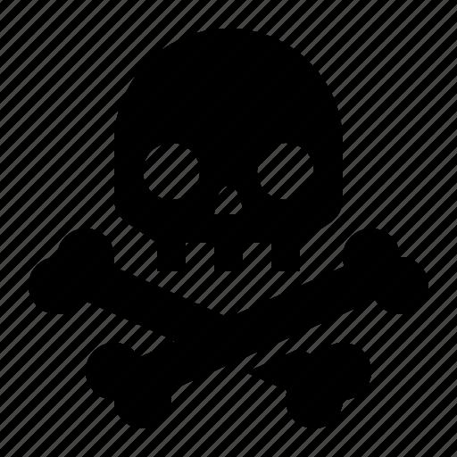 bones, danger, death, pirate, poison, skeleton, skull icon