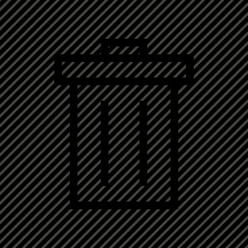 bin, delete, garbage, recycle, trash, waste icon