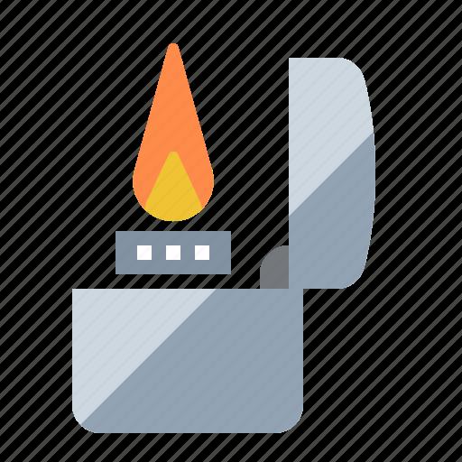 flame, lighter, smoking, zippo icon