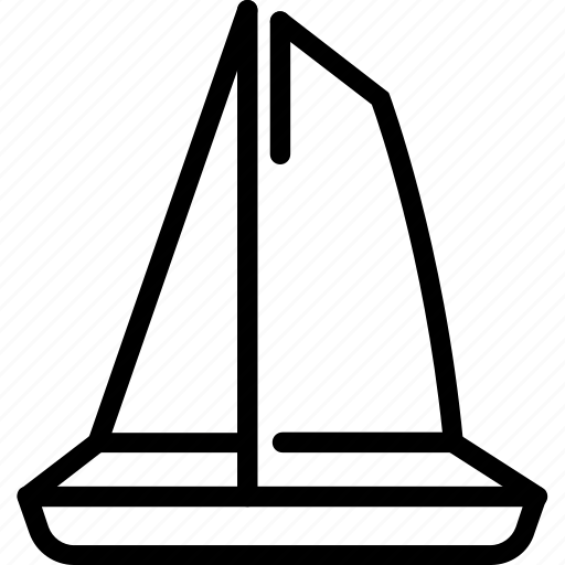 sea, travel, vacation, yacht icon