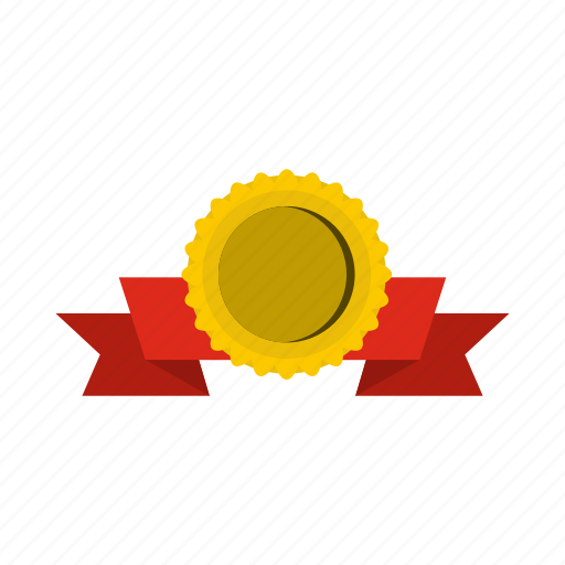 award, design, gold, label, medal, ribbon, success icon