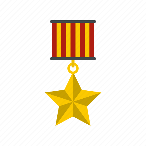 award, design, gold, label, medal, star, success icon