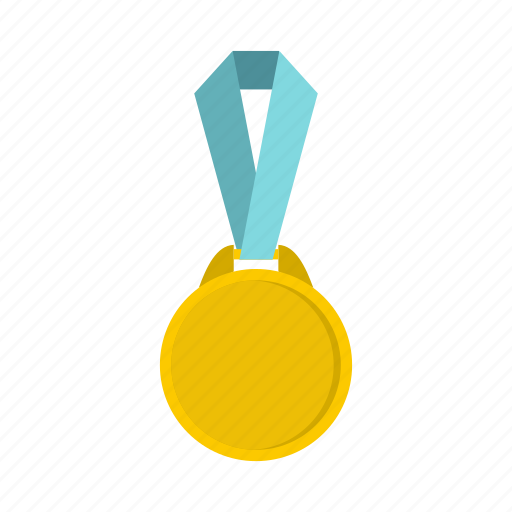 award, gold, label, medal, ribbon, round, success icon