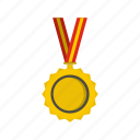 award, decoration, design, gold, label, medal, success icon