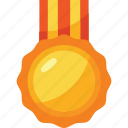 and, award, colors, gold, medal, tournament, trophy icon