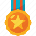 and, award, colors, gold, medal, star, trophy icon