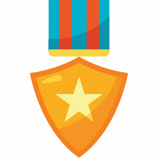 and, award, badge, colors, gold, shield, trophy icon