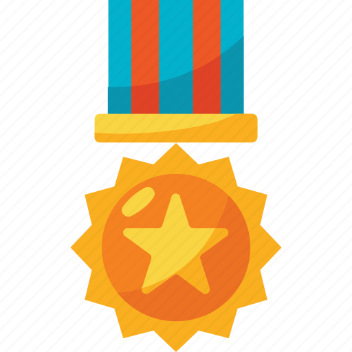 and, award, colors, gold, medal, trophy, winner icon