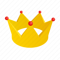 crown, golden, isometric, king, queen, royal, ruby icon