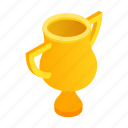 best, champion, first, golden, isometric, place, success icon