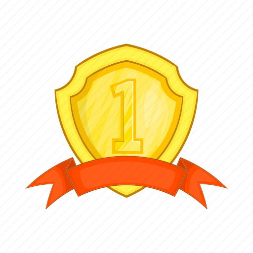 achievement, award, cartoon, label, prize, ribbon, winner icon