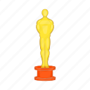 award, cartoon, cinema, curtain, gold, movie, red icon