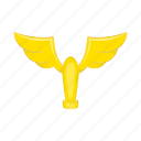 award, cartoon, cup, gold, trophy, wings, winner icon