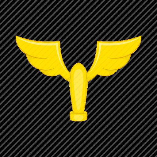 award, cartoon, cup, gold, trophy, wings, winner icon