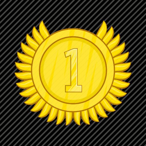 Achievement, award, cartoon, champion, gold, medal, winner ...