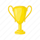 cartoon, cup, gold, golden, reward, sport, trophy icon