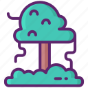 forecast, forrest, rain icon