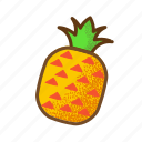 asian, fruit, pineapple, smooth, tropical, tropicalfruit icon