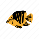 aquarium, diving, fish, ocean, tropical animal, yellow icon