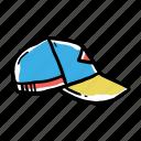 hand drawn, hat, trucker icon