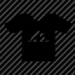 camp, fashion, print, tshirt, wear icon