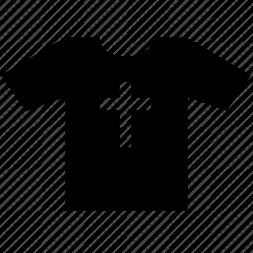 christian, cross, print, tshirt, wear icon