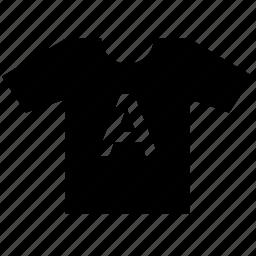 a, letter, print, tshirt, wear icon