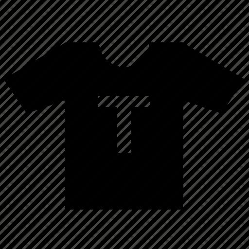 letter, print, t, tshirt, wear icon