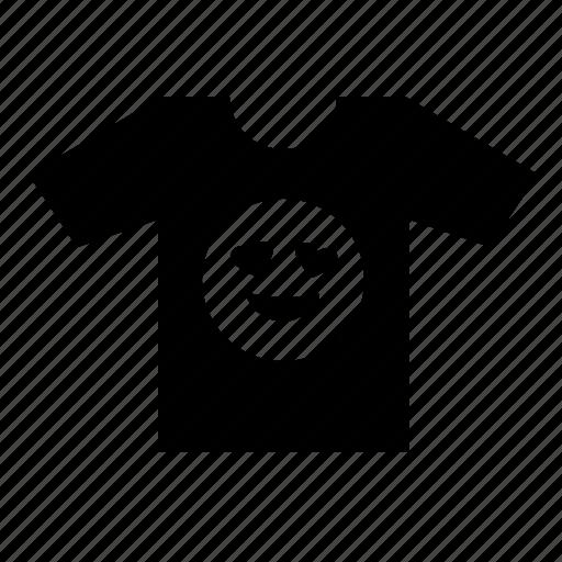 fashion, love, male, man, print, tshirt icon