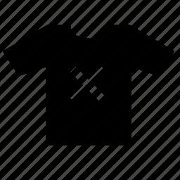cross, multiply, print, tshirt, wear icon
