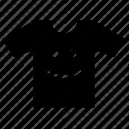print, smiley, tshirt, wear icon
