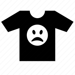 bad, man, print, smiley, tired, tshirt icon
