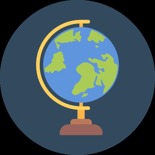 globe, history tutor, world globe icon