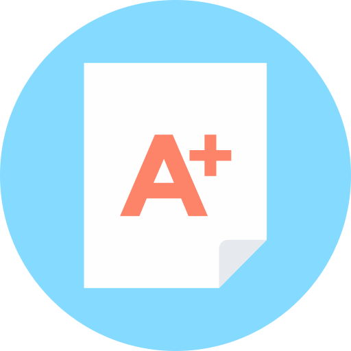 a+ test, tutor icon