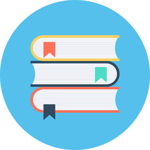 school textbooks, textbooks icon
